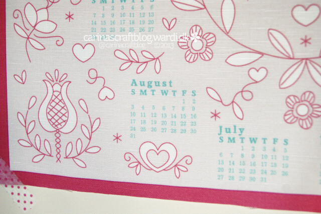 2014 calendar fabric panels