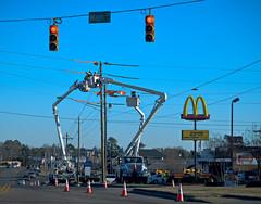 light fixture, vehicle, signaling device, transport, road, street light, electricity, street, lighting, infrastructure, traffic light, intersection,