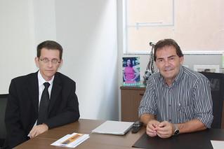 O advogado Marcelo de Souza em reunião com Paulinho da Força, na sede do Solidariedade, em São Paulo