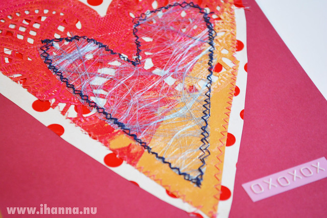 Polka Dot mixed media Valentine