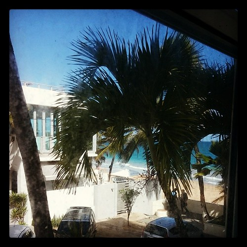 Me and @genmae5's ocean view from our window at the Atlantic Beach Hotel...