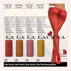 AVAILABLE NOW - Heart Seam Pantyhose