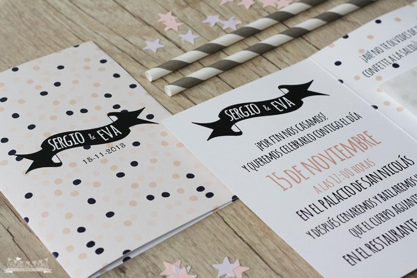 Invitacion Confetti