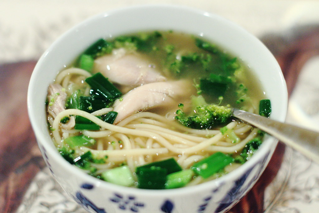 Sunday Night Dinner: Chicken Ginger Soup with Noodles