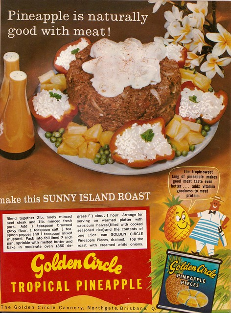 Golden Circle pineapple ad - From a 60s meat industry cookbook