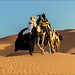 Tuareg with camels caravan by Anna Gibiskys