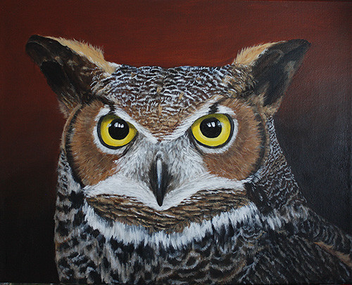 Great Horned Owl by Sid's art