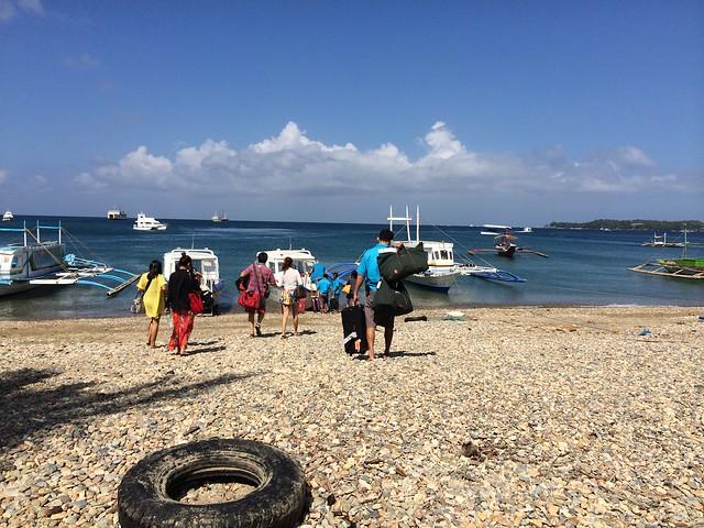 Boat shuttle to Boracay
