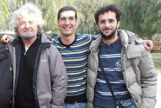 Giuseppe L'Abbate e Emanuele Scagliusi con Beppe Grillo