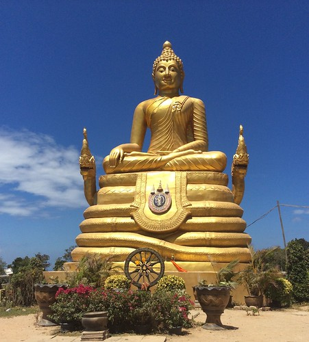 While the Big Buddha is under construction