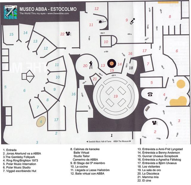 Mapa del Museo Abba de Estocolmo Museo ABBA de Estocolmo, leyenda sueca del pop - 13721873275 dbcb94b009 z - Museo ABBA de Estocolmo, leyenda sueca del pop