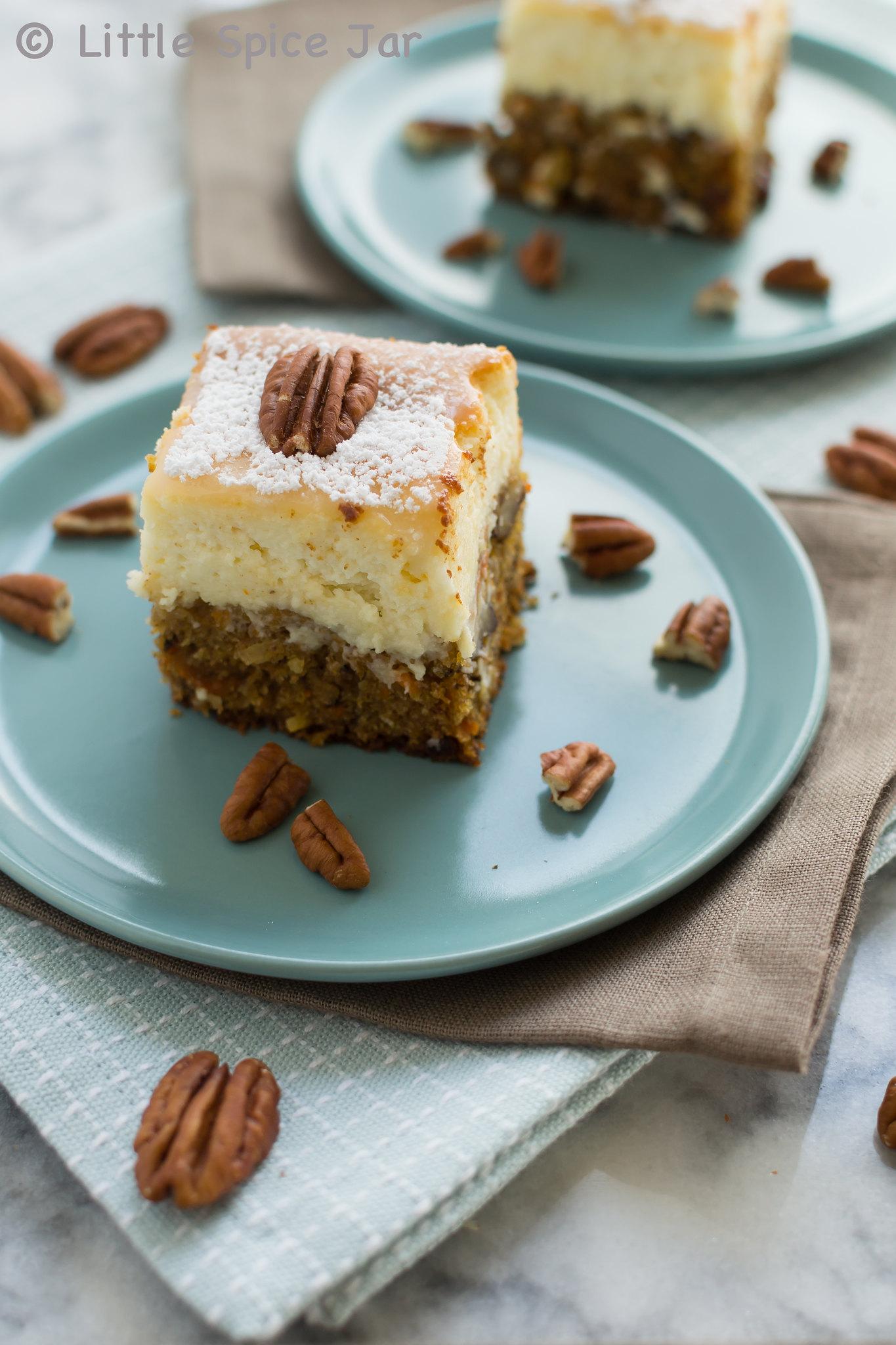 Carrot Cake Cheesecake Bars 1