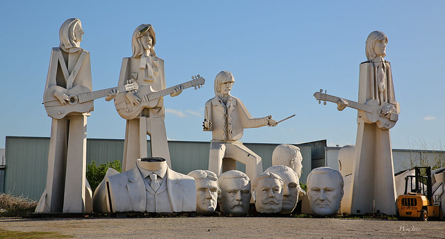 The Fab Four and Some Famous Heads