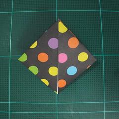 การพับกระดาษเป็นถุงใส่ขนมแบบญี่ปุ่น (Origami Sambo) 004
