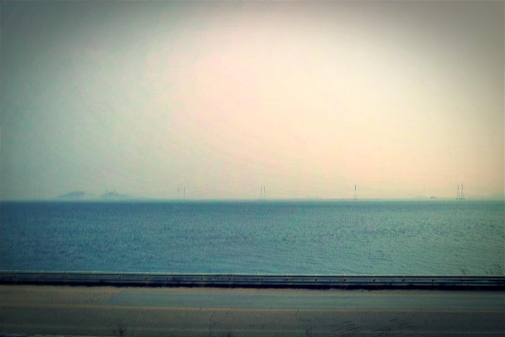 넓은 길-'오이도에서 시화방조제 자전거 주행정보(Sihwa tide embankment)'
