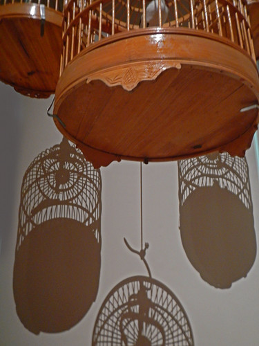 Shadows of Bird Cages in the Asian Museum in Singapore