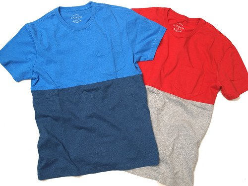 J.Crew / Slim Colorblock Tee