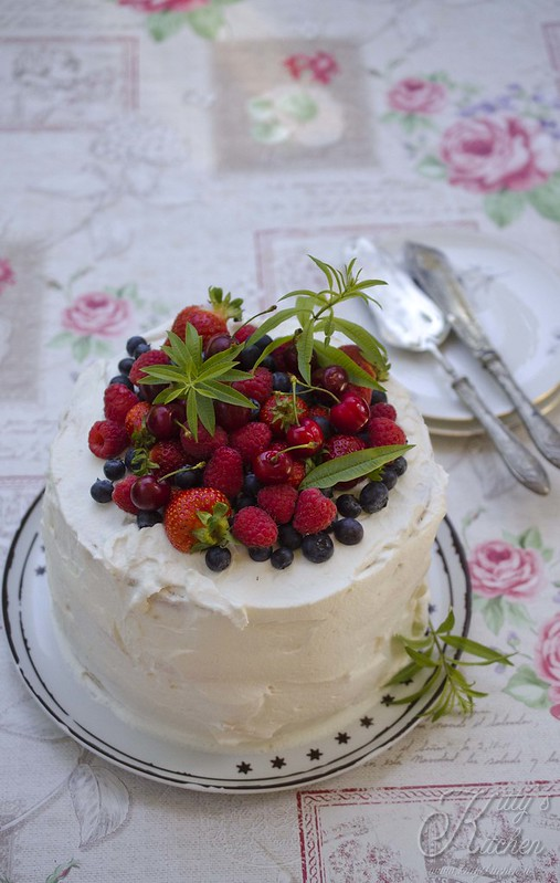 Three layer fruit cake