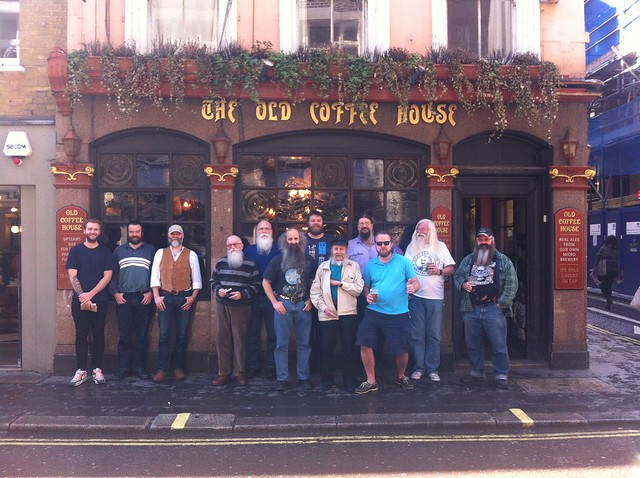 Capital Beards outside the Old Coffee House in May 2014