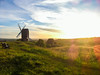 Windmill in the summer sun