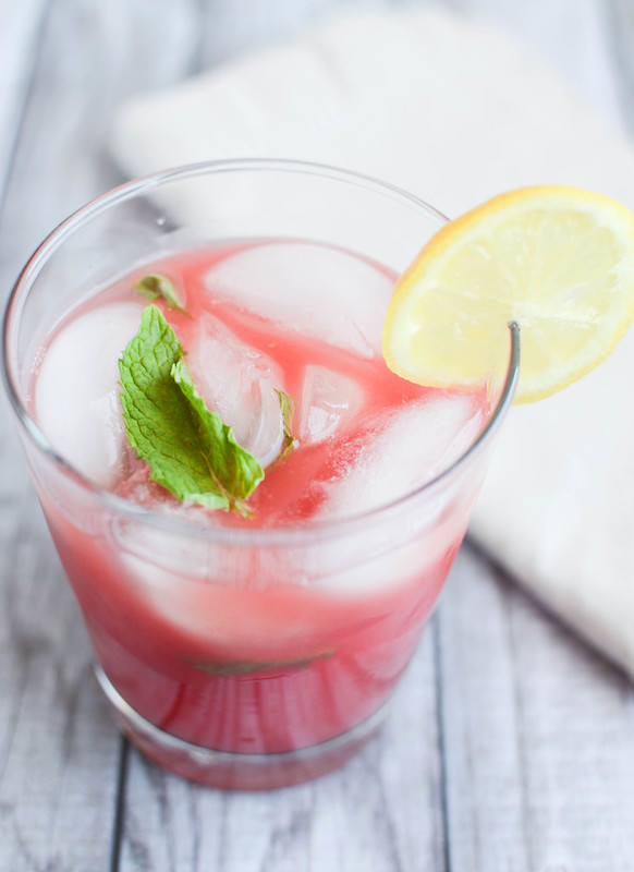 Spiked Watermelon Lemonade - the perfect summer drink! A quick and easy lemonade with tequila!
