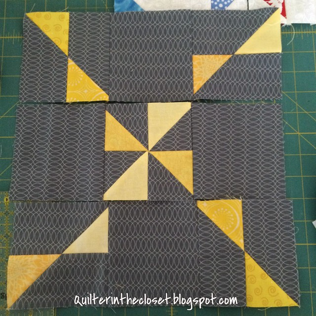 Bunting block with wrong pinwheel