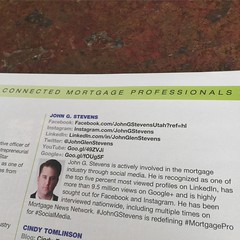 Honored to have been named one of the #NMP #top25 Most Connected Mortgage Professionals in the Nation!  #JohnGStevens #MortgagePros