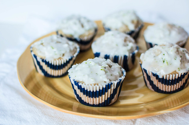 Coconut Macadami Muffins with Lime Glaze 2