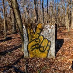 Victory  #graphicdesign #graffiti #haunted #evp #streetart #streetartist #art #graffitiart #urbanexplore #hiddenhistory #hiddenhistoryny #12ozprophet #abandoned #decay #spraypaint #mural #artinthewoods #notmywork #vandal #hiking #woods #blauvelt #newyork