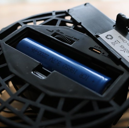 電池はこんな感じ。Micro USBケーブルで充電できます。