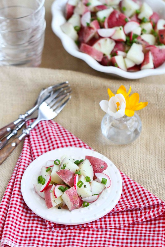 Healthy Potato Salad with Radishes | cookincanuck.com