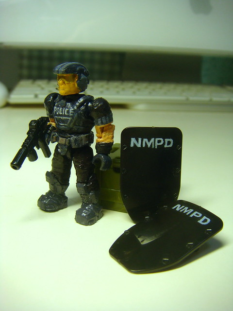NMPD Police with riot shield! 9091998490_8f0bcecd7b_z