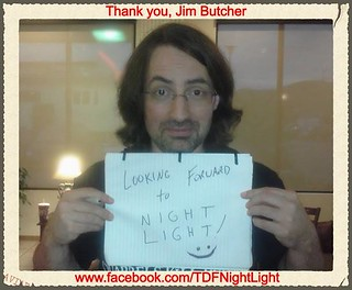 Jim Butcher endorsing Night Light