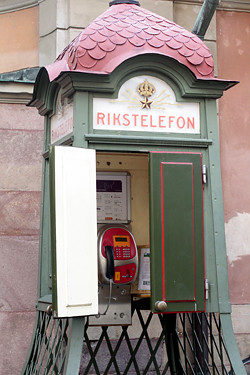 Stockholm phone booth