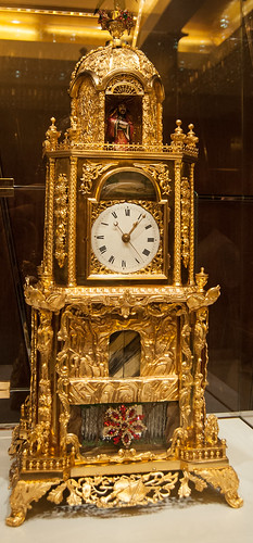 Golden clock