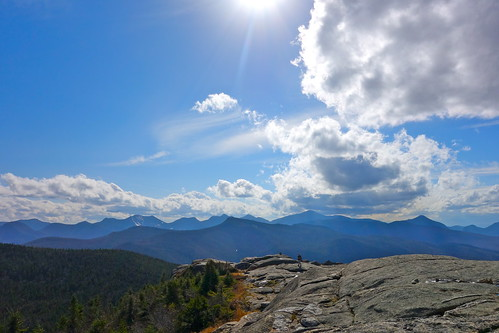 sky sun clouds view summit upstatenewyork newyorkstate adirondackmountains cascademountain greatrange