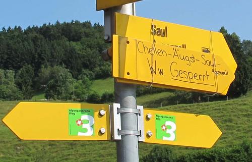 "The sign I missed: Gesperrt = ""blocked"""