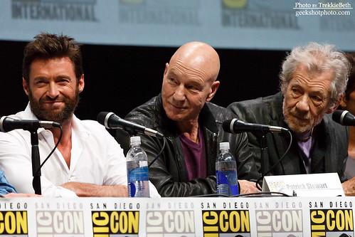 Hugh Jackman, Patrick Stewart, and Ian McKellen