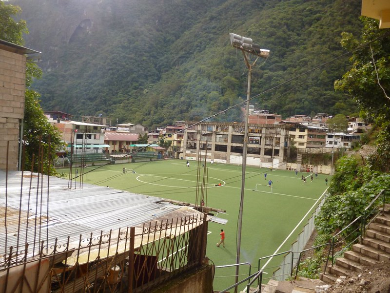 Football field in Aguas Calientes