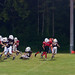 Small photo of Hummel and Herod end zone sack