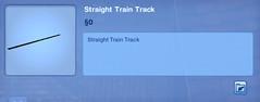 Straight Train Track