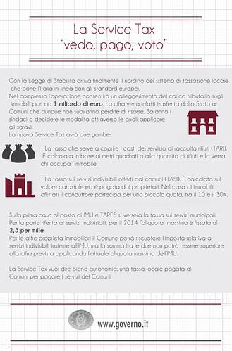 La Service Tax nella #leggedistabilità