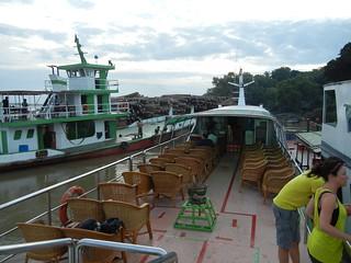 First passengers on board Malika