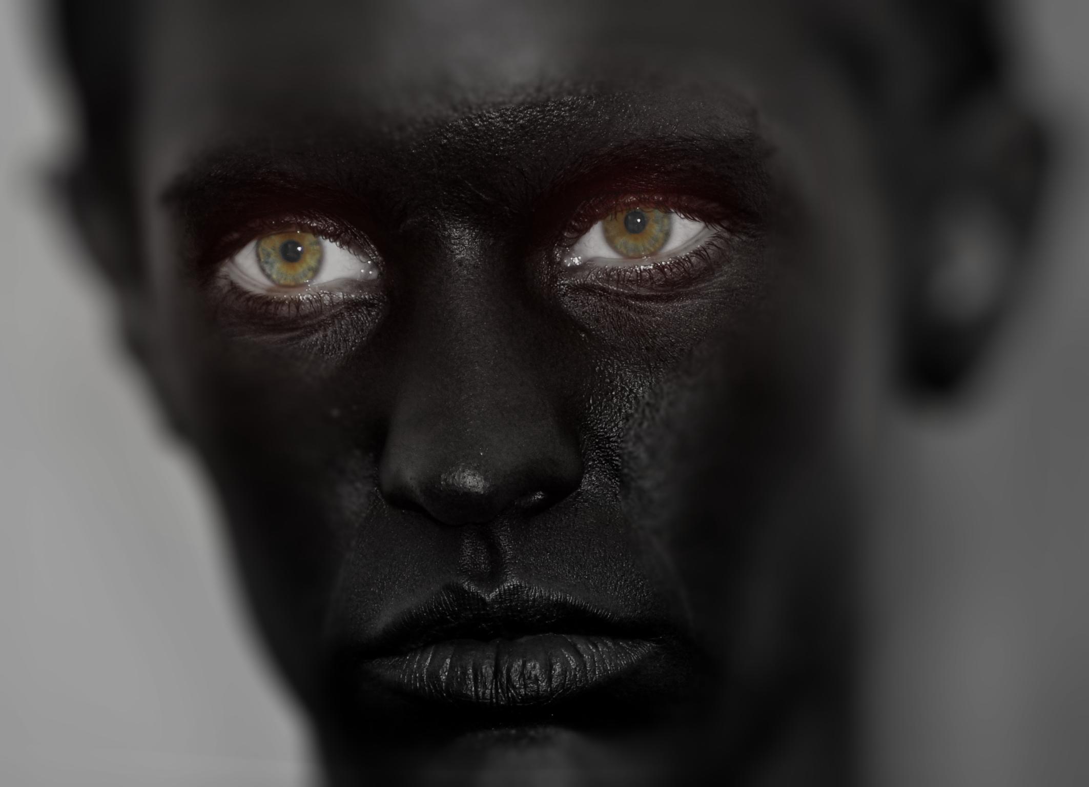 black bodypaint