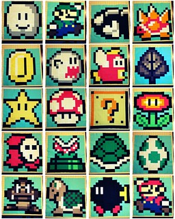 Super Mario Quilt blocks