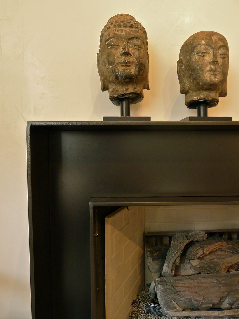 Cold rolled steel grill 5406 contemporary chicago by kramer - Detail Custom Steel Fireplace Surround