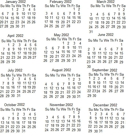Calendar 2002 is not a leap year | Flickr - Photo Sharing!