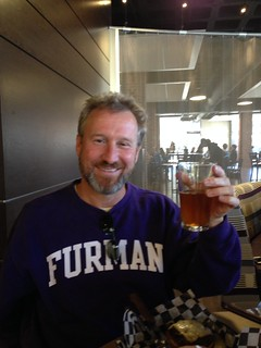 Jim with His First Legal Beer on Campus