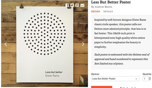 letterpress poster on dieter rams