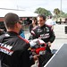 Juan Pablo Montoya with a smile prior to his first testing laps with Team Penske at Sebring